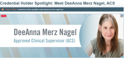approved clinical supervisor DeeAnna Nagel